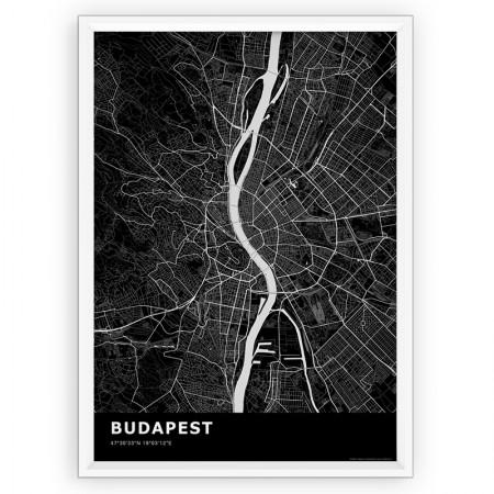 MAPA / PLAKAT - BUDAPESZT / standard BLACK