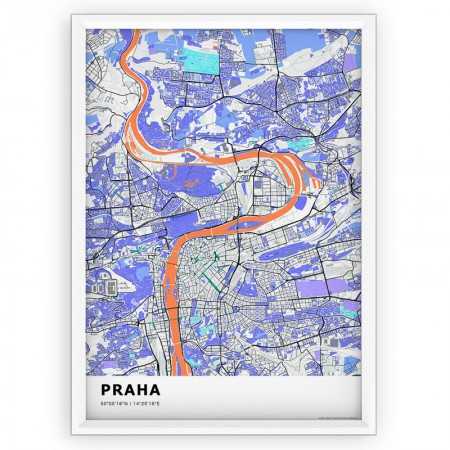 MAPA / PLAKAT - PRAGA / standard KOLOR-1