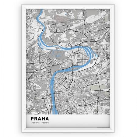 MAPA / PLAKAT - PRAGA / standard BLUE