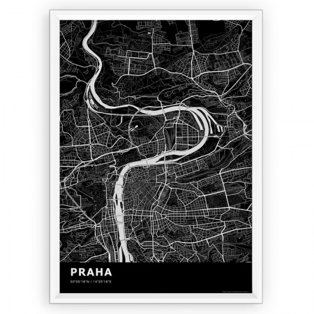 MAPA / PLAKAT - PRAGA / standard BLACK