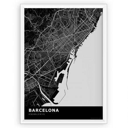MAPA / PLAKAT - BARCELONA / standard BLACK