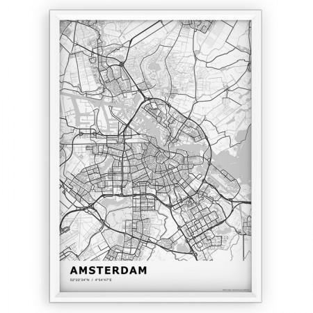 MAPA / PLAKAT - AMSTERDAM / standard WHITE