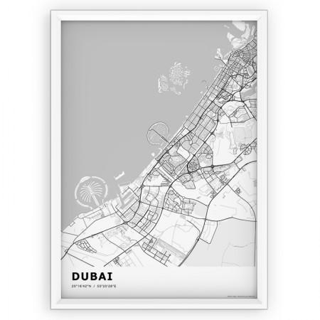 MAPA / PLAKAT - DUBAI / standard WHITE