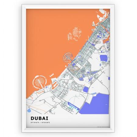 MAPA / PLAKAT - DUBAI / standard KOLOR-1