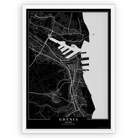 MAPA / PLAKAT - GDYNIA / passe-partout BLACK