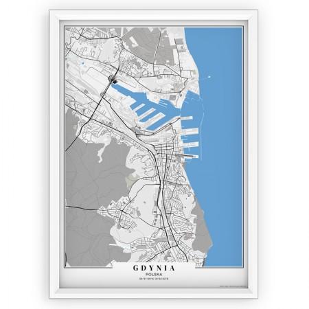 MAPA / PLAKAT - GDYNIA / passe-partout BLUE