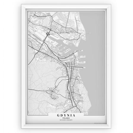 MAPA / PLAKAT - GDYNIA / passe-partout WHITE