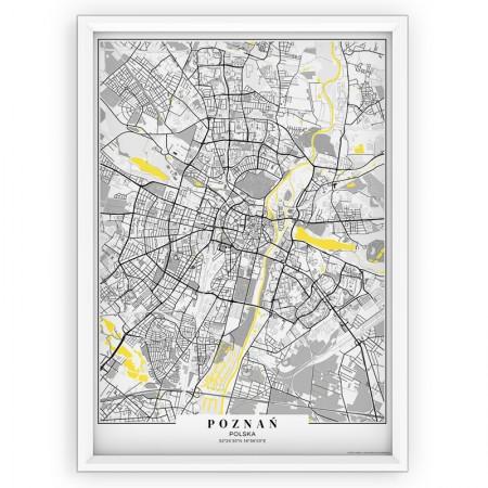 MAPA / PLAKAT - POZNAŃ / passe-partout YELLOW