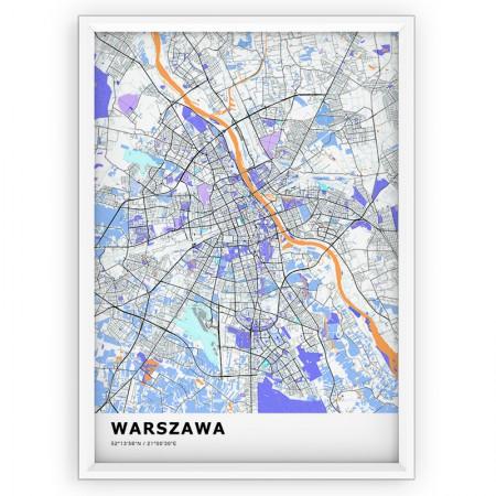 MAPA / PLAKAT - WARSZAWA / standard KOLOR-1
