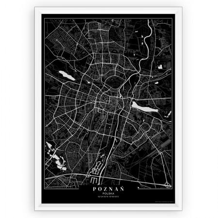 MAPA / PLAKAT - POZNAŃ / passe-partout BLACK