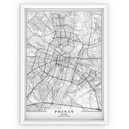 MAPA / PLAKAT - POZNAŃ / passe-partout WHITE