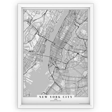 Plakat mapa na ścianę - New York City