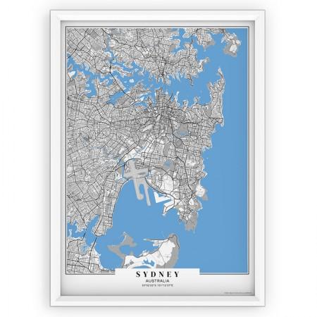 MAPA / PLAKAT - SYDNEY / passe-partout BLUE