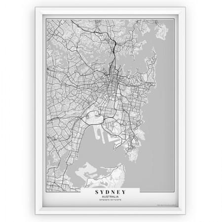 MAPA / PLAKAT - SYDNEY / passe-partout WHITE