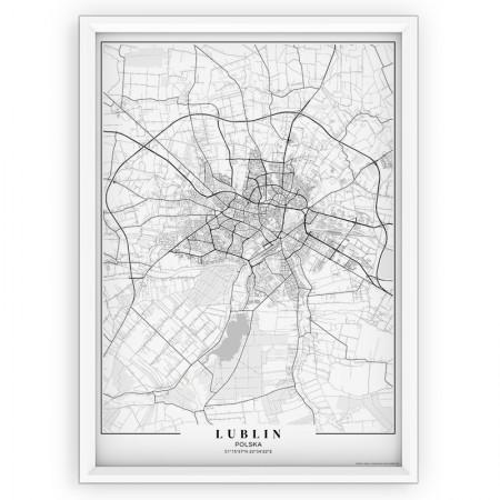 MAPA / PLAKAT - LUBLIN / passe-partout WHITE