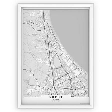 MAPA / PLAKAT - SOPOT / passe-partout WHITE