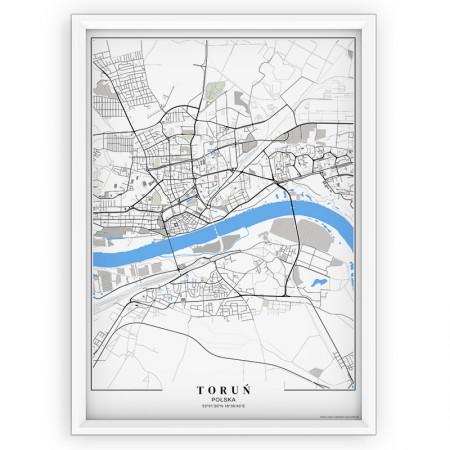 MAPA / PLAKAT - TORUŃ /  passe-partout BLUE