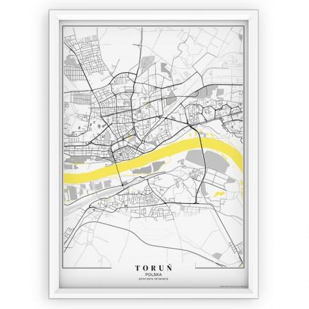 MAPA / PLAKAT - TORUŃ /  passe-partout YELLOW