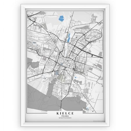MAPA / PLAKAT - KIELCE / passe-partout BLUE
