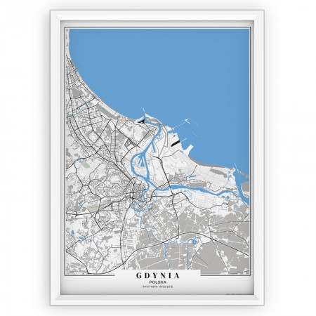 MAPA / PLAKAT - GDAŃSK / passe-partout BLUE