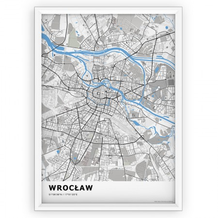 MAPA / PLAKAT - WROCŁAW / standard BLUE
