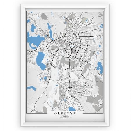 MAPA / PLAKAT - OLSZTYN / passe-partout BLUE