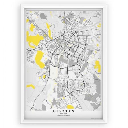 MAPA / PLAKAT - OLSZTYN / passe-partout YELLOW
