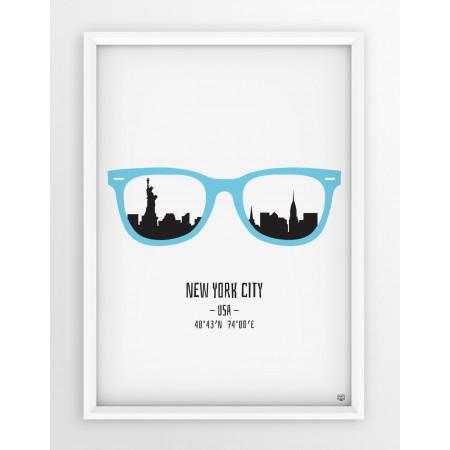 PLAKAT OKULARY - NEW YORK CITY / MINT