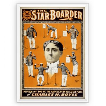 Plakat teatralny na ścianę, reprint.