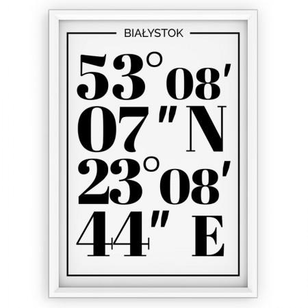 Plakat typograficzny - Białystok white