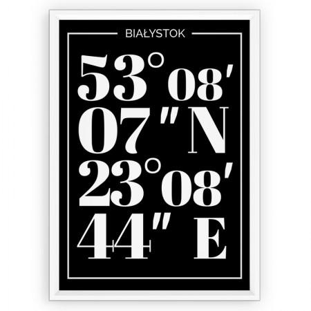 Plakat typograficzny Białystok - white