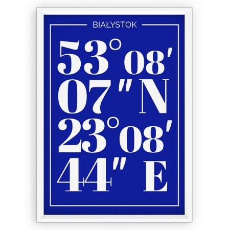 Plakat typograficzny Białystok - blue