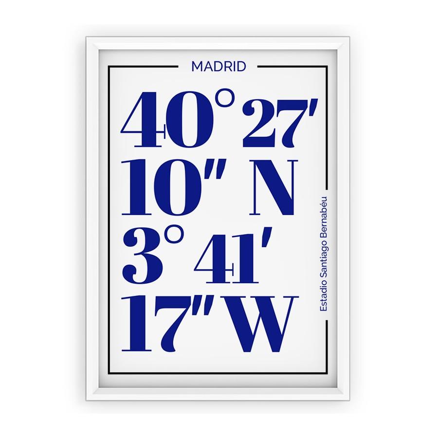 Plakat Real Madryt - typografia
