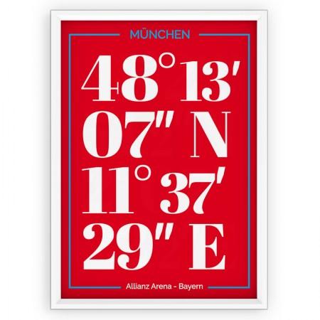 Plakat Bayern Monachium - typografia