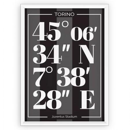 Plakat sportowy Juventus - typografia
