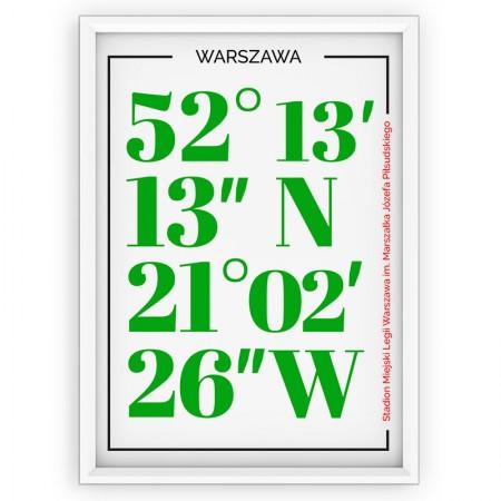 Plakat sportowy LEGIA Warszawa - typografia