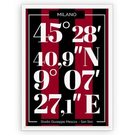 Plakat sportowy wypograficzny - AC Milan
