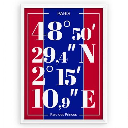 Plakat typograficzny, sportowy - PSG