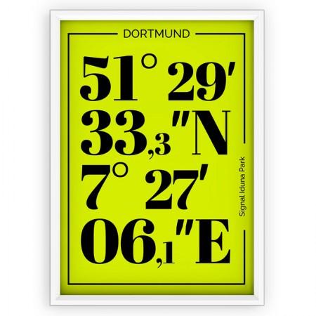 Plakat typograficzny, sportowy - BORUSSIA DORTMUND
