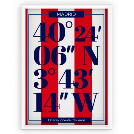 Plakat typograficzny - sportowy - Atletico Madrid