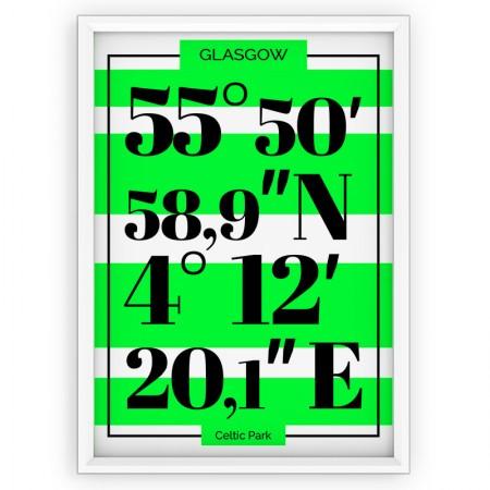 Plakat typograficzny - sportowy - CELTIC Glasgow