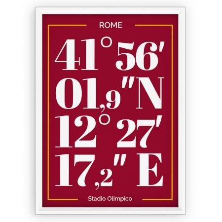 Plakat typograficzny - sportowy - AS Roma