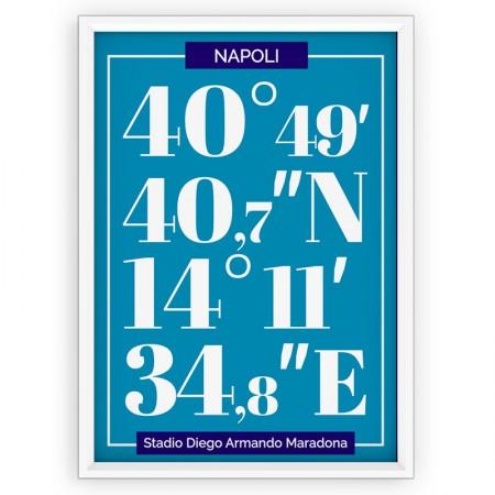 Plakat typograficzny - sportowy - SSC NAPOLI