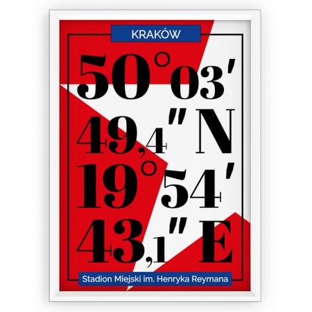 Plakat sportowy typograficzny - WISŁA KRAKÓW