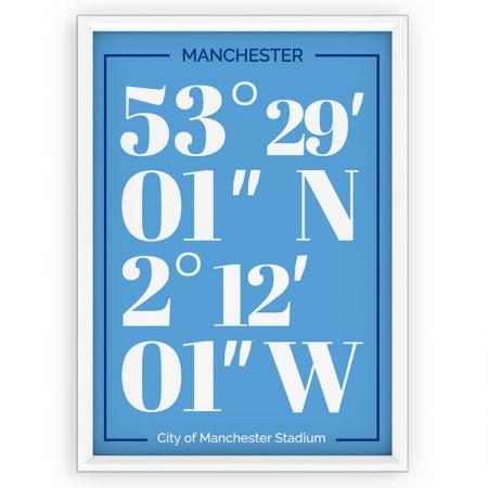 Plakat typograficzny - sportowy - MANCHESTER City