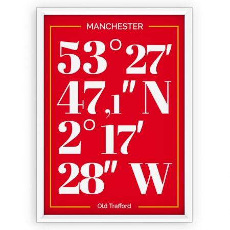 Plakat sportowy typograficzny - Manchester United