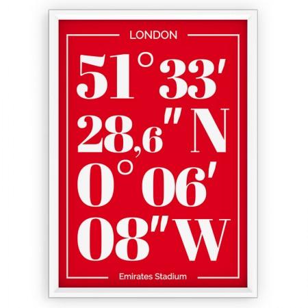 Plakat typograficzny - sportowy - Arsenal Londyn