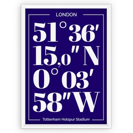 Plakat typograficzny - sportowy - TOTTENHAM HOTSPUR