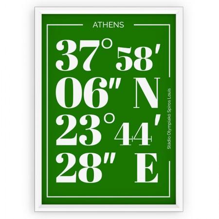Plakat typograficzny - sportowy - Panathinaikos Ateny