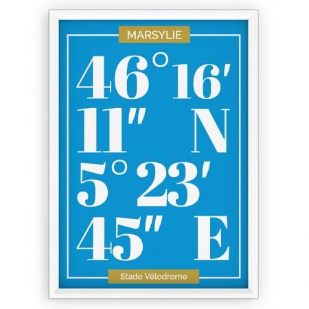 Plakat typograficzny - sportowy - Olimpique Marsylia